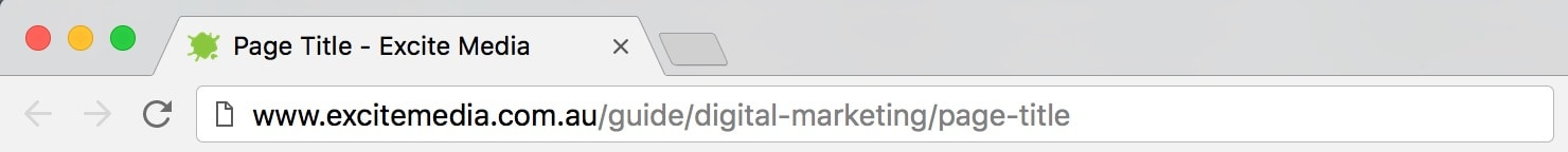 An image of an open tab displaying the page title.