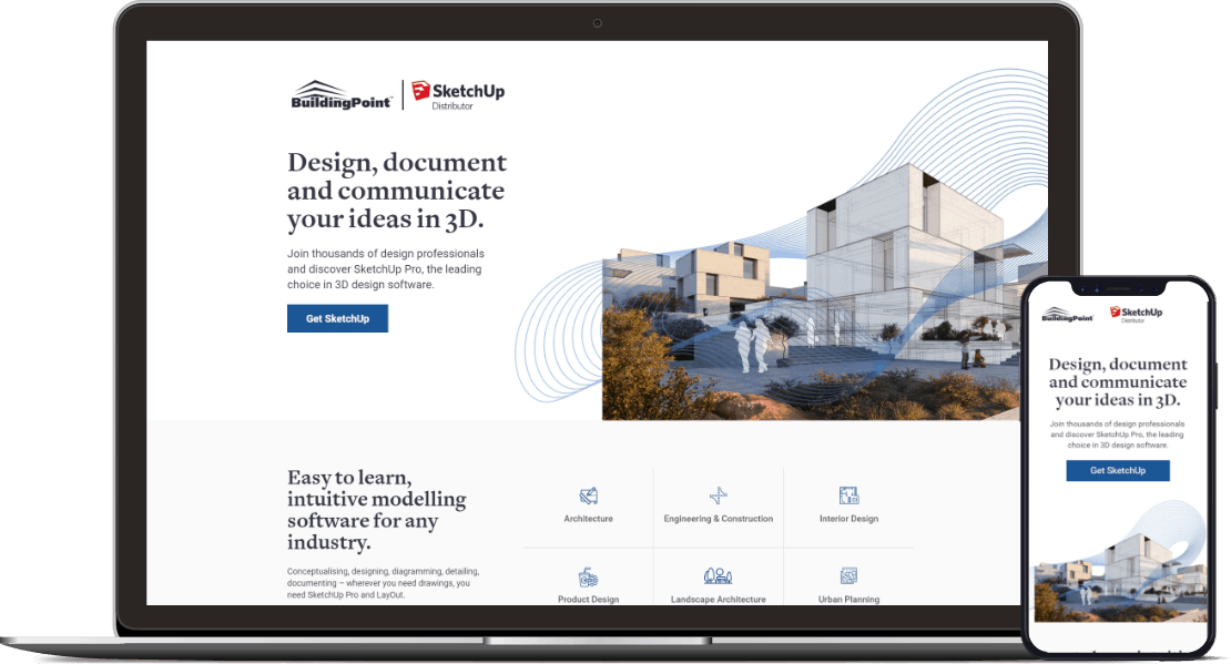 Web design project for BuildingPoint