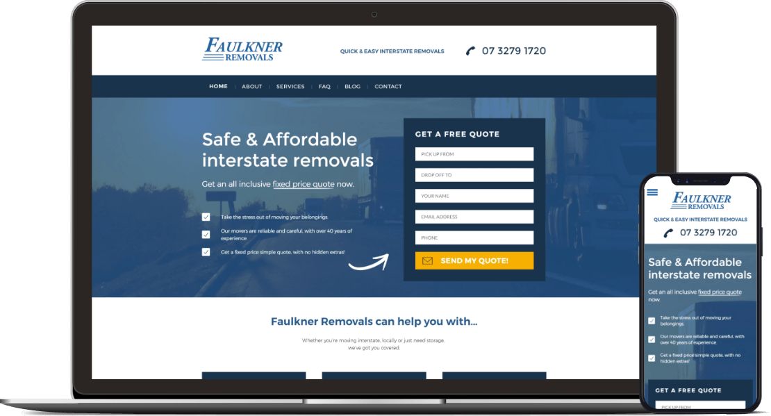 Web design project for Faulkner Removals