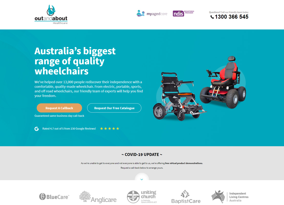 Wheelchair Landing Page